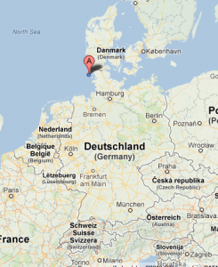 Amrum 德國相對位置圖